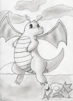 The Majestic Dragonite by 1-4m-m3