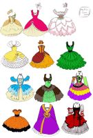 CUPCAEK DRESSES by Monstrous-Teaparty