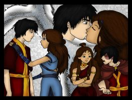 Zuko Katara Love Colored by Fallonkyra
