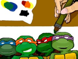 Painting Turtles by IveyAngelo