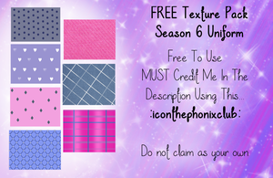 Winx S6 Uniform Texture Pack FREE by ThePhonixClub