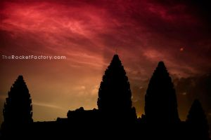 Angkor Wat Sunset 2 by frankrizzo