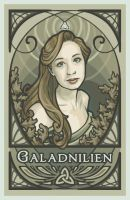 Nouveau Self Portrait by Galadnilien