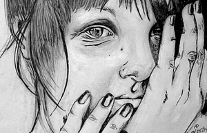 Silent Girl - August 2014 - Drawing by lyssagal