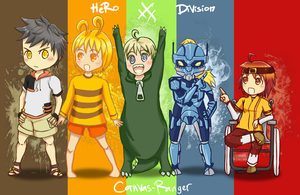 CR: chibi hero XXX division by pin9yuu