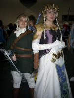 Link and Zelda from Twilight P by dragonloveruk