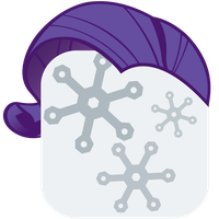 MLP:FiM Rarity Mane iPhone Winterboard Icon by craftybrony