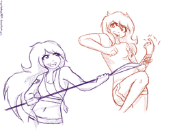 Training ft. Kat and Kenz by tigerbabes1029