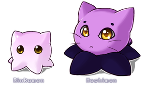 Rinkumon and Hoshimon by lunatic-neko
