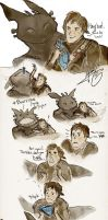 HTTYD 2 - Wherein Hiccup and Toothless are dorks by Vilva