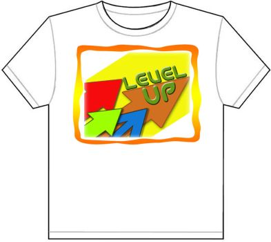 T-shirt design Level up shirt by earlkyo