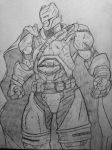 Armored suit batman sketch by DiegoE05