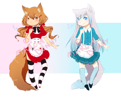 [CLOSED] Kemonomimi Girls AUCTION by MarchBunny