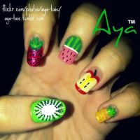 Fruity Nail Art by Ayooshie