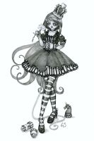 chess.. black queen pencil by ladylionink