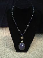Princess Luna Roasary Necklace by CrimsonDenizen