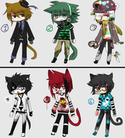 Adoptables Kittys boys _OPEN by Kurumi-RAWR