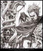 Snake Altar- Pencil Detail by andybrase