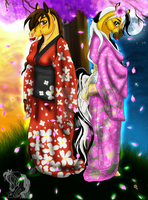 Sacred Kimonos by Leadmare