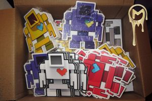 Lovebot Stickers by MatthewDelDegan
