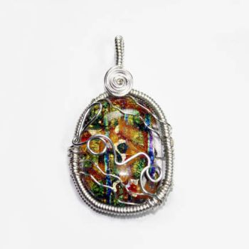 Wire Wrap Glass LOVE Pendant by Create-A-Pendant