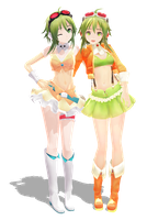 MMD - Gumi and Gumi V3 by HelioSWillers