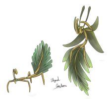 Fossil Fakemon-Leaf Insect by Weyard