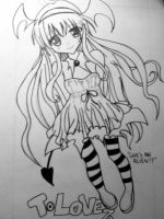 to love ru lala in a dress by drawXforXlife