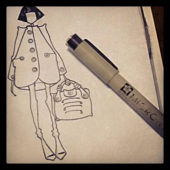 fashion doodle  by papercuts