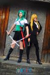 Fem Zoro and Sanji_original by Megane-Saiko