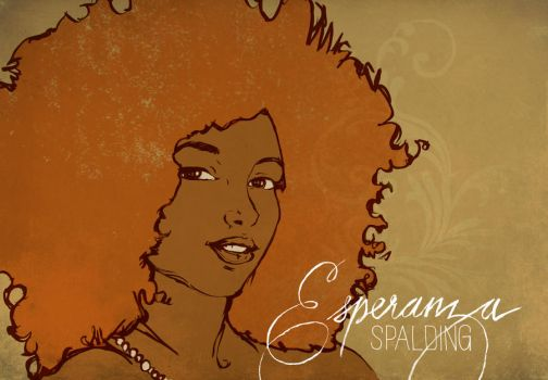 EsperanzaSpalding illustration by LEBsculpteure