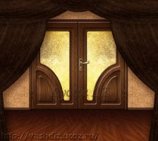 Background door curtains by Lyotta