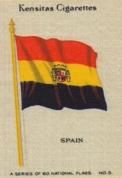 Vintage Trade Card - Second Spanish Republic Flag by Yesterdays-Paper