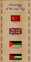 Chronology of Iraqi flag by AY-Deezy