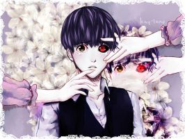 KANEKI KEN and the weird lady that lives in him by Kay-land