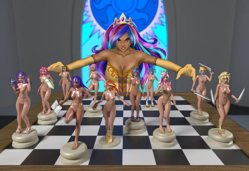 [Collab] Checkmate - Nude version by Darkan-Kana