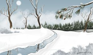 Snow in the Forest by Louisetheanimator