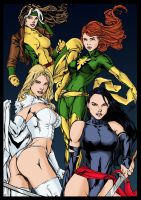 Marvel Chicks colors by BDixonarts