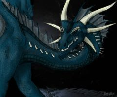 Blue Dragon by xXDarkCatXx