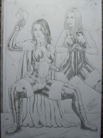 Huntress and Black Canary 2010 by SUPERTIAGOF