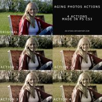 Aging Photos Actions by sd-stock