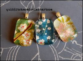 Chiyogami Pendants 2 by quidditchmom