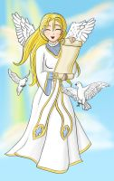 Colour- Messenger Angel by kittygriffin