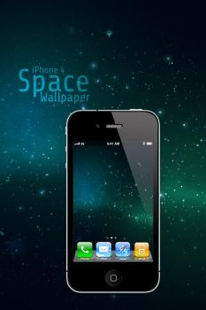 iPhone 4 Space Wallpaper by Martz90