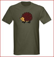 Hedgehog tee shirt design by The-Cute-Storm