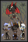 -PC- Four-Strong Chibi Team by MoonyWings