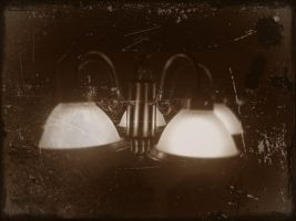 Old Restaurant Lights by GeneLythgow