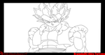 Super Gogeta .:lineart 92:. by Evil-Black-Sparx-77