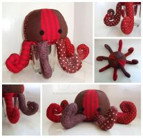 Octopus Plushie 2 by JesterofEvil
