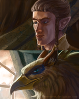 Detail of Posing with Royalty by vonvelvet